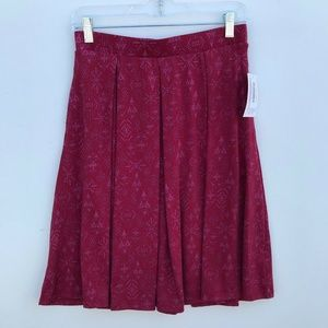 LuLaRoe Madison Printed Pleated Skirt NWT #1470